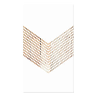 White Minimalist chevron with Wood Double-Sided Standard Business Cards (Pack Of 100)