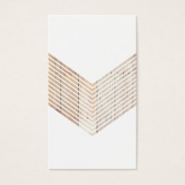 Chevron business cards templates zazzle white minimalist chevron with wood business card colourmoves Gallery