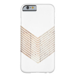 White Minimalist chevron with Wood Barely There iPhone 6 Case