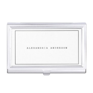 White Minimalist Lawyer Professional Card Case
