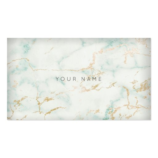 Green And Gold Marble : White mint green gold gray marble vip business card zazzle