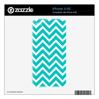 white mint white zig zag pattern design skin for the iPhone 4S