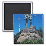 White Minuteman Statue, Lexington, Massachusetts, 2 Inch Square Magnet