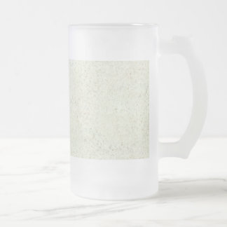 White Mist Cork Wood Grain Look 16 Oz Frosted Glass Beer Mug