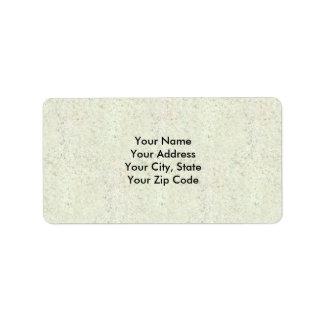White Mist Cork Wood Grain Look Address Label