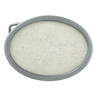 White Mist Cork Wood Grain Look Belt Buckle