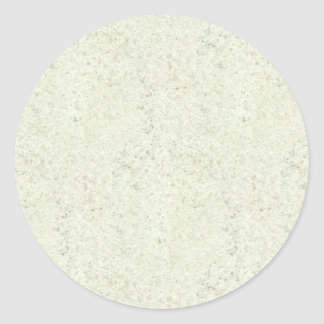 White Mist Cork Wood Grain Look Classic Round Sticker