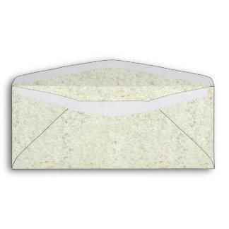 White Mist Cork Wood Grain Look Envelope