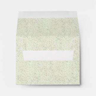 White Mist Cork Wood Grain Look Envelopes