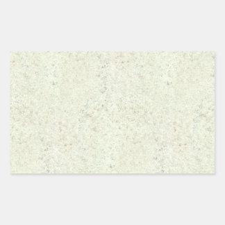 White Mist Cork Wood Grain Look Rectangular Sticker