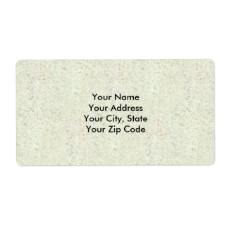 White Mist Cork Wood Grain Look Shipping Label