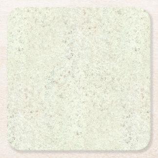 White Mist Cork Wood Grain Look Square Paper Coaster