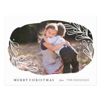 White Mistletoe - Holiday Postcard
