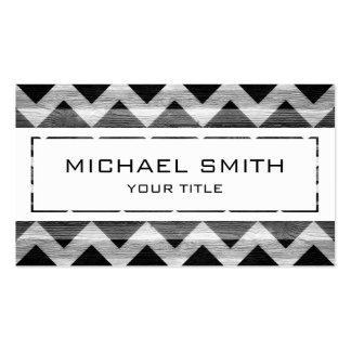 White Modern Chevron Pattern Business Card