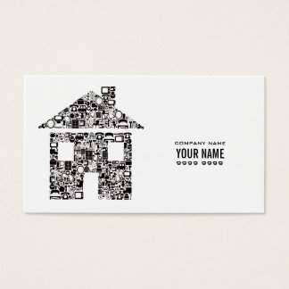 White Modern Construction Template Business Card