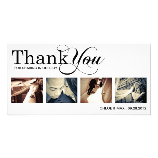 WHITE MODERN THANKS | WEDDING THANK YOU CARD