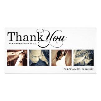 WHITE MODERN THANKS | WEDDING THANK YOU CARD PHOTO CARD