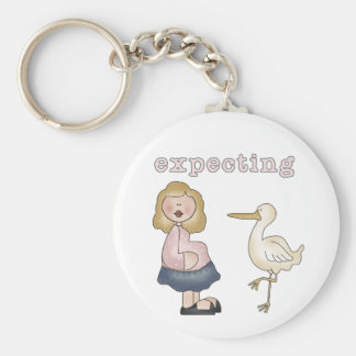 White Mom to Be - Customized Keychain