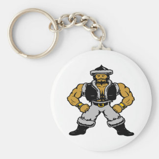 White Mongol Hun Warrior Keychain
