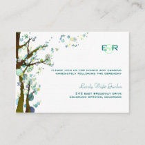 White Monogrammed Wedding Reception Enclosure