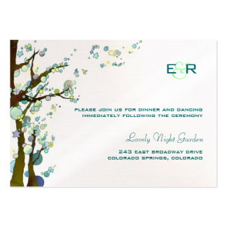 White Monogrammed Wedding Reception Enclosure Card Business Card Templates