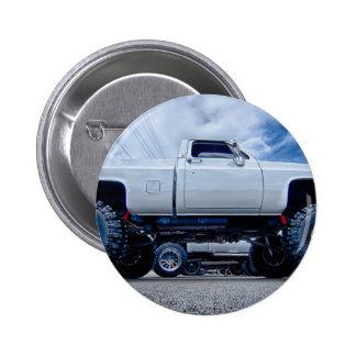 white monster truck 2 inch round button
