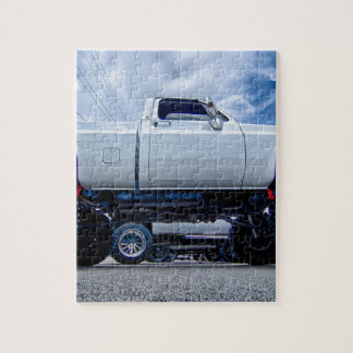 white monster truck jigsaw puzzle
