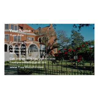 White Moody mansion and museum flowers Double-Sided Standard Business Cards (Pack Of 100)
