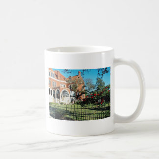 White Moody mansion and museum flowers Classic White Coffee Mug