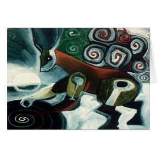 White Moon Shaman by Gregory Gallo Greeting Cards