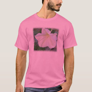White Moonflower Tee on Pink Background