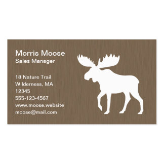 White Moose Silhouette Business Card
