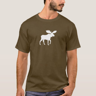 White Moose Silhouette T-Shirt