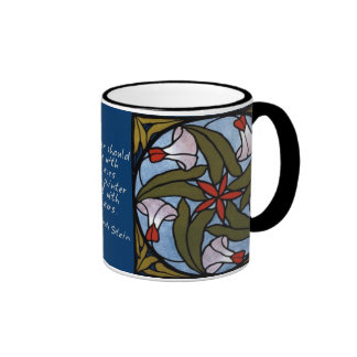 White Morning Glories - Gertrude Stein Quote Coffee Mugs