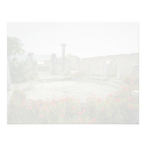 White Morocco, Roman ruin flowers Letterhead