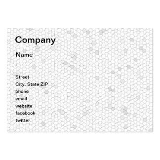 White Mosaic Large Business Cards (Pack Of 100)