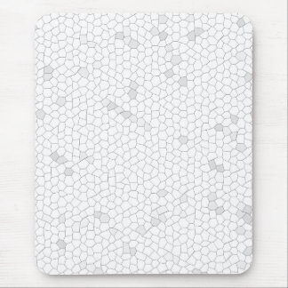 White Mosaic Mouse Pads