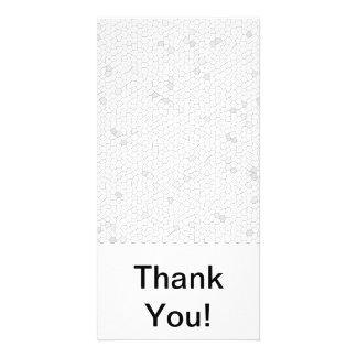 White Mosaic Photo Card