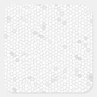 White Mosaic Square Sticker