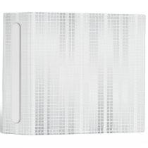 White Mosaic Tiles 3 Ring Binder