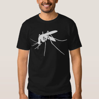 White Mosquito Side View Graphic Tee Shirt