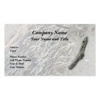 White Moss on Driftwood Business Card Template
