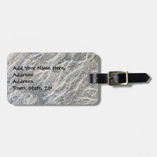 White Moss on Driftwood Luggage Tag