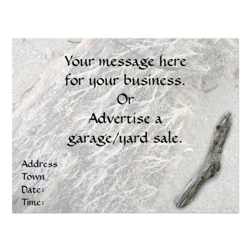 White Moss on Driftwood Personalized Flyer