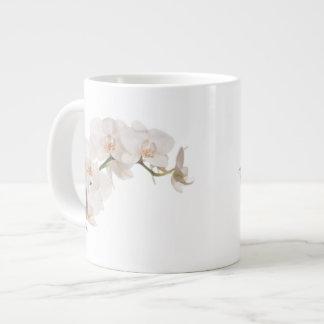 White Moth Orchid 20 Oz Large Ceramic Coffee Mug