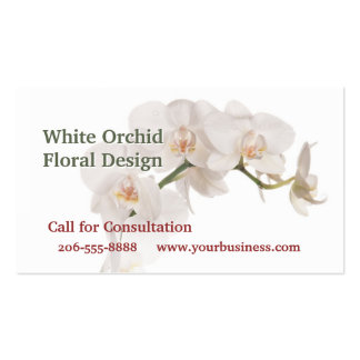 White Moth Orchid Business Cards