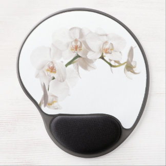 White Moth Orchid Gel Mouse Pad