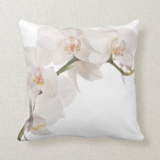 White Moth Orchid Throw Pillow