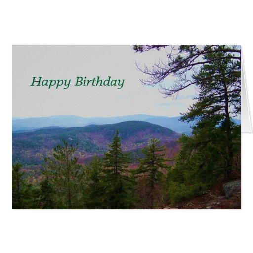 White Mountain Birthday Greeting Card Zazzle