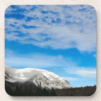 White Mountain Blue Sky Landscape Coaster
